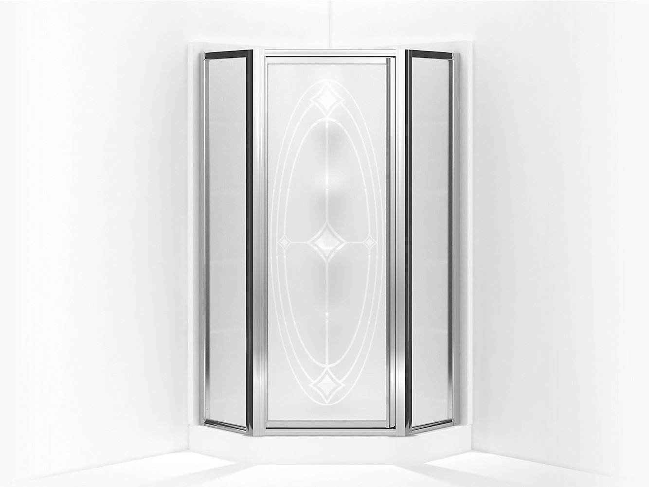 Intrigue Framed Neo Angle Corner Shower Door 15 13 16 X 27 9 16 X 15 13 16 X 72 H Sp2277a 38s Sterling