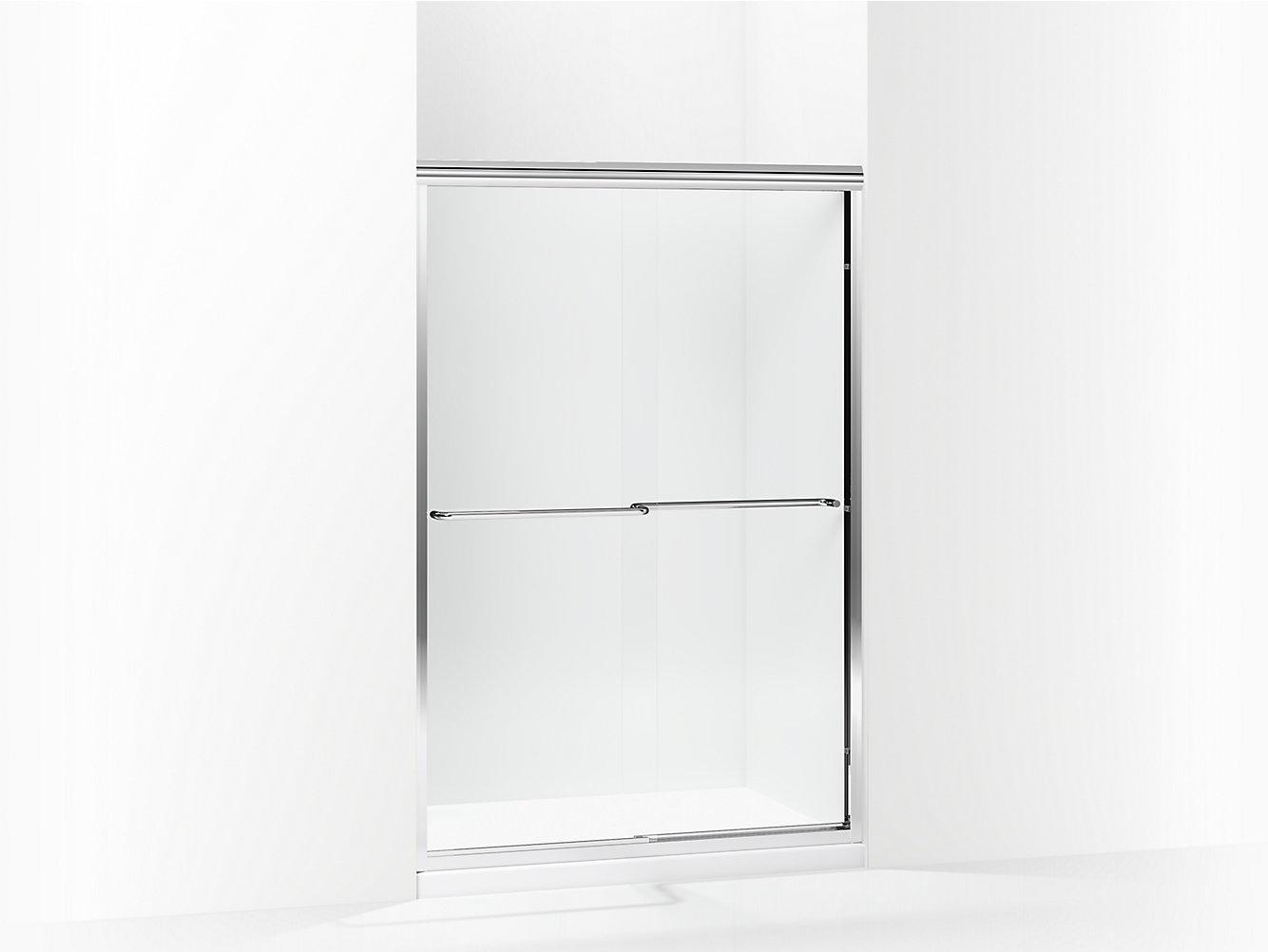 Finesse Frameless Sliding Shower Door Height 70 116 Max
