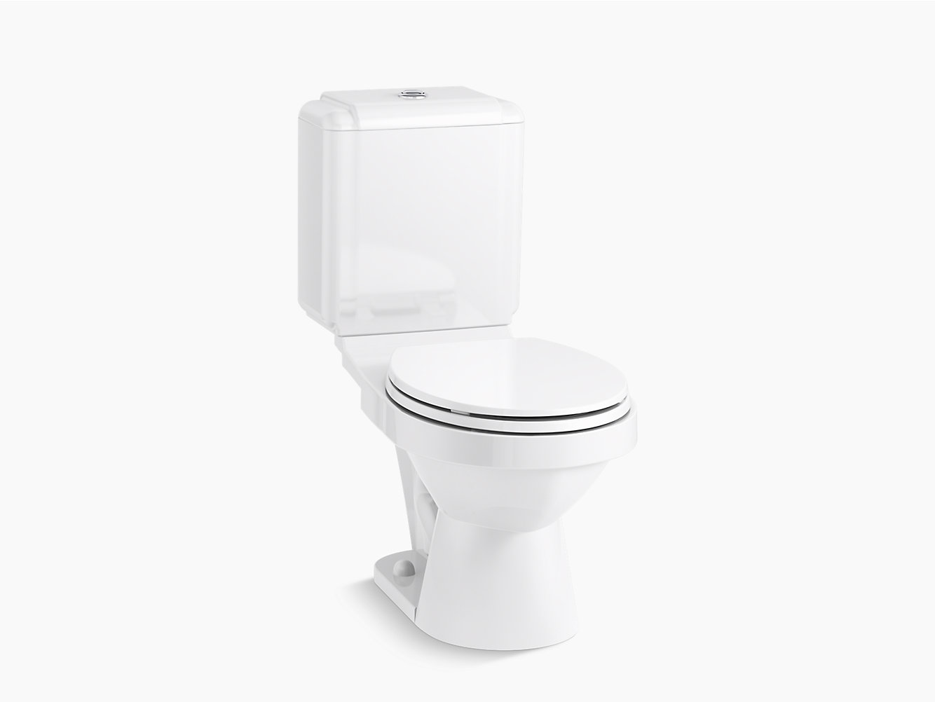 Karsten Round Front Toilet With Dual Force Technology 402024 Sterling