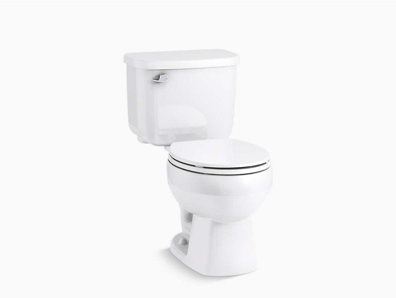 Windham Round Front Toilet With Pro Force Technology And Left Hand Trip Lever 402078 Sterling