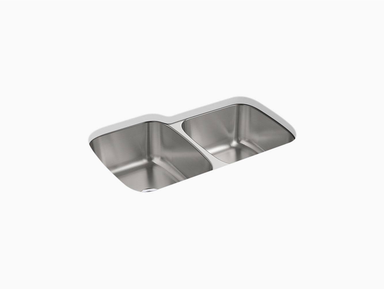 McAllister Under-mount Large/Small Kitchen Sink, 31-3/4\