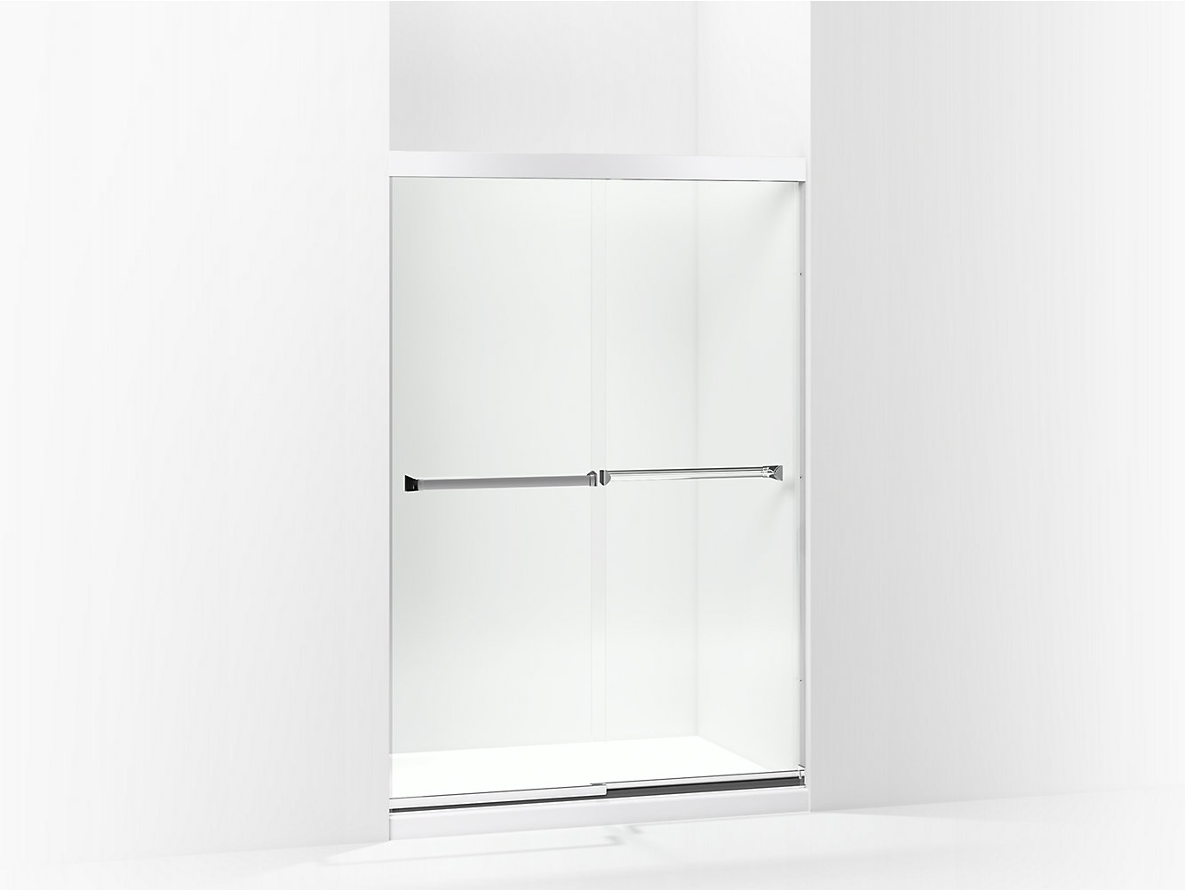 Meritor Frameless Sliding Shower Door 42 5847 58 W X 69 34 H