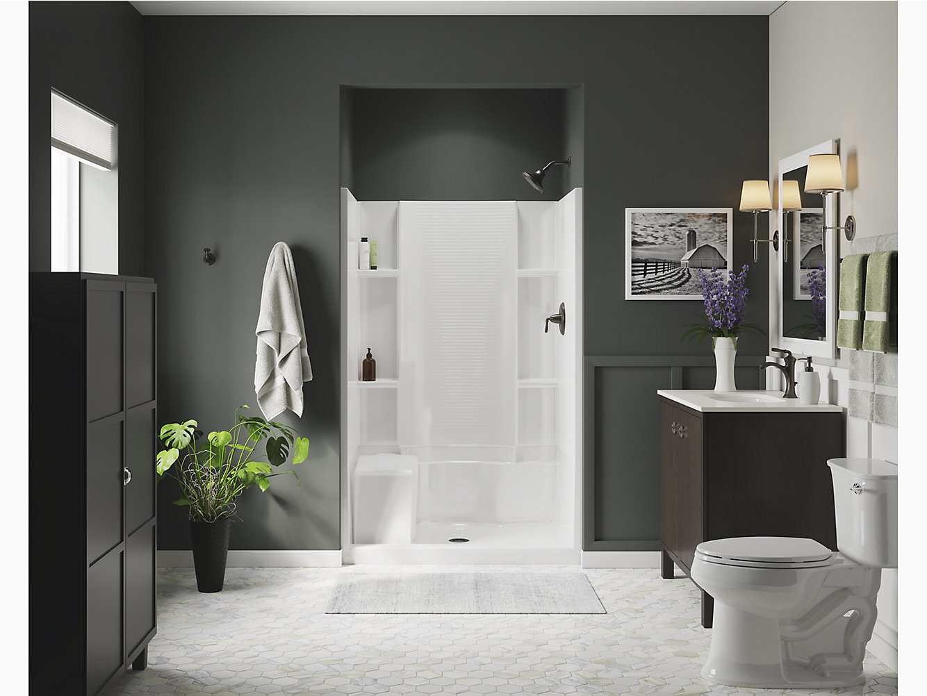 Accord Series 7228 48 X 36 X 74 12 Seated Shower Stall