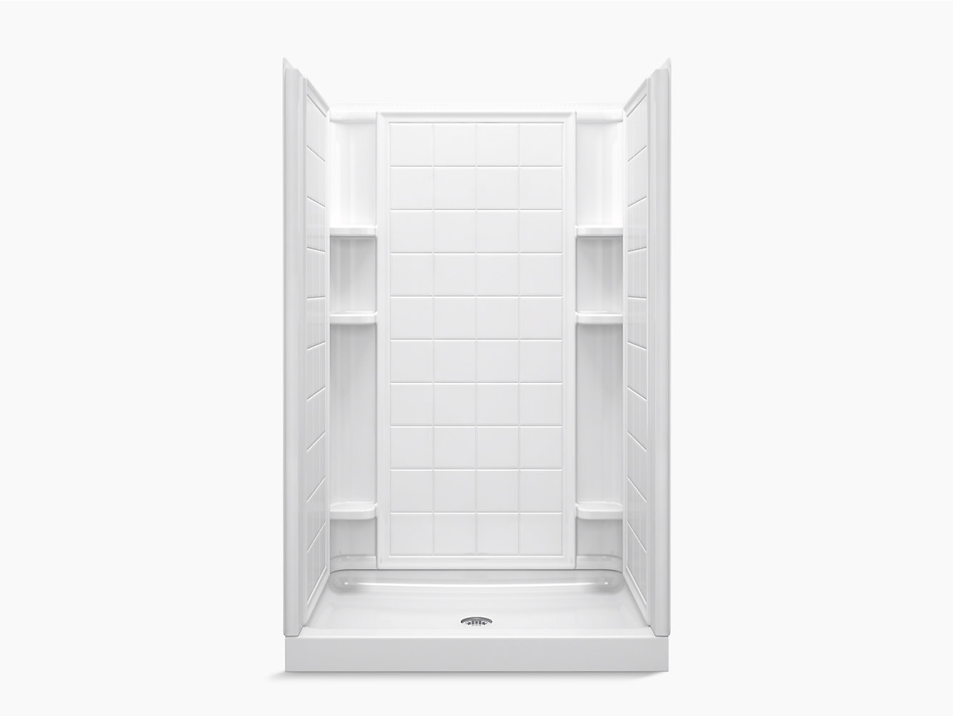 Ensemble 48 Series 7212 X 34 75 3 4 Tile Alcove Shower 72120100 Sterling