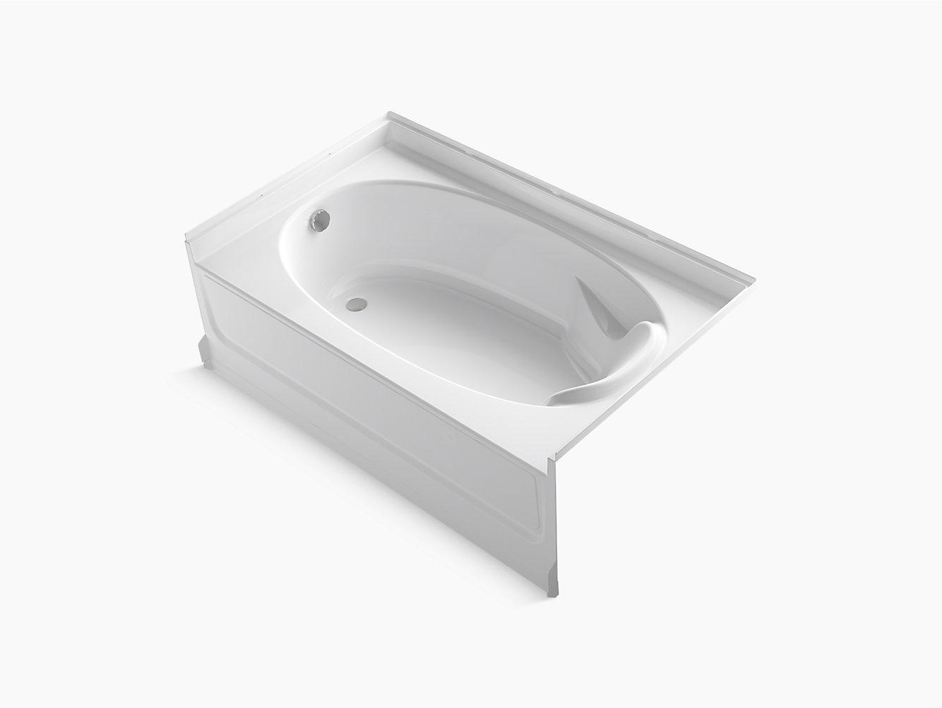 "Ensemble Series 7110, 60"" x 36"" Bath With Above-Floor Drain and ..."