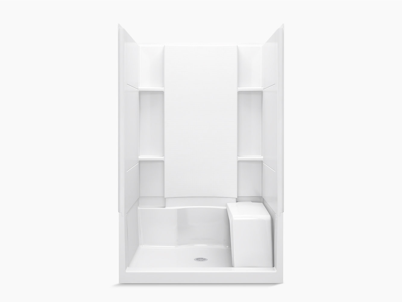 Accord 48 X 36 X 74 1 2 Seated Shower Stall With Aging In Place Backerboards 72280106 Sterling