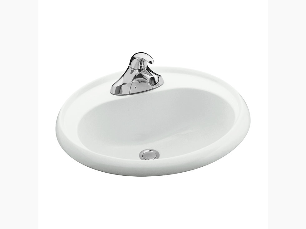 Oval Drop In Bathroom Sink 75010140 Sterling