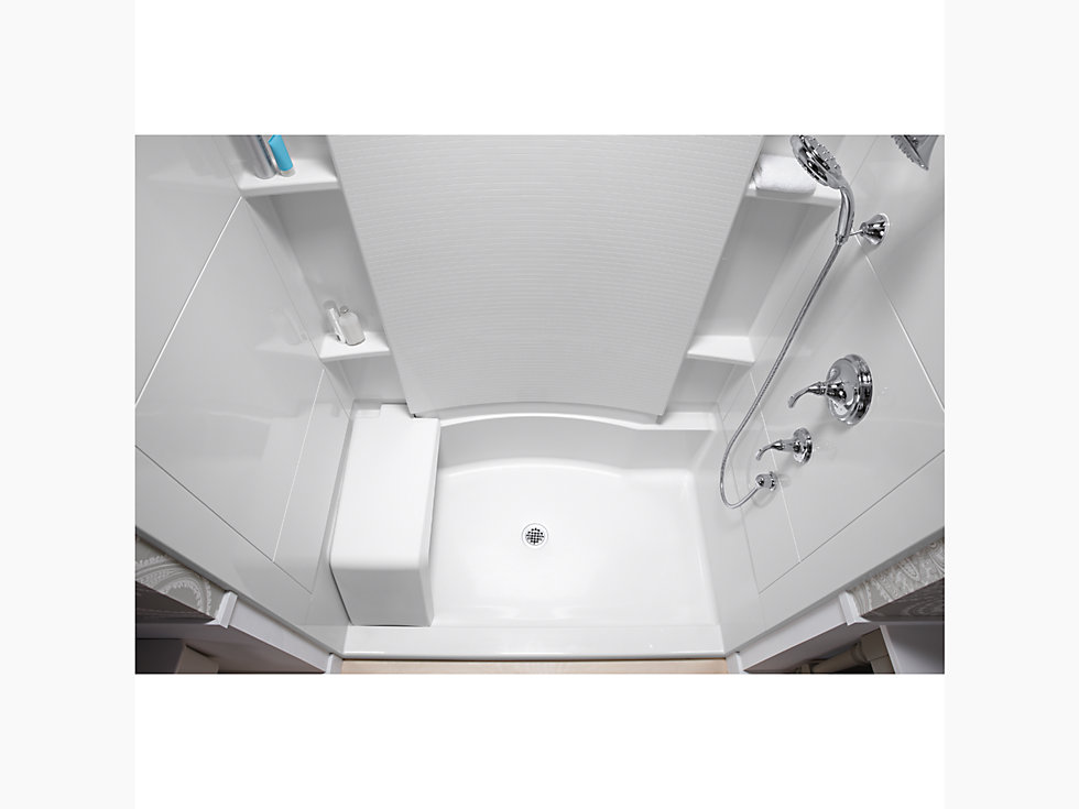 Accord 174 48 Quot X 36 Quot X 74 1 2 Quot Shower Stall With Seat And