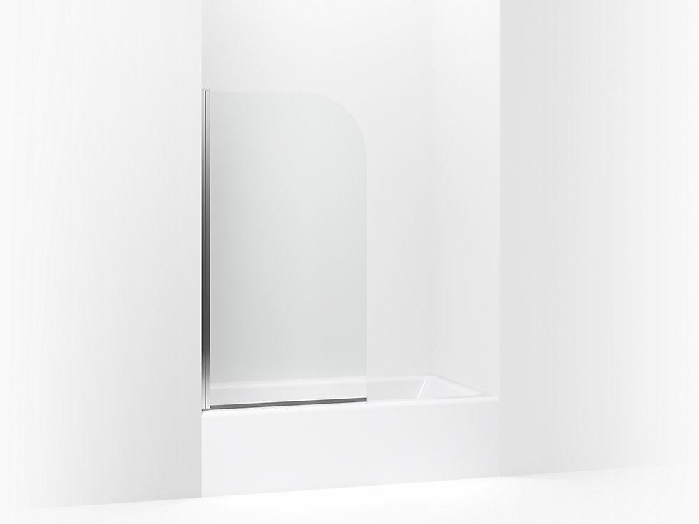 "whiston® bath screen 32"" x 56-15/16"" | 572111-32s-g05 sterling"