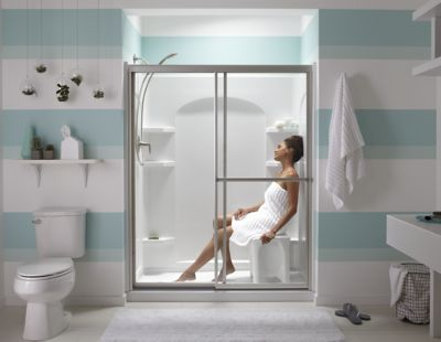 Our seated showers blend fort with convenience Photos - Review shower doors for walk in showers Inspirational