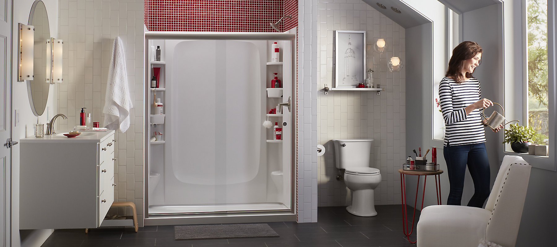 Store Plus Shower Storage | Sterling Plumbing