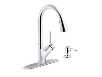 Setra™ kitchen faucet with KOHLER® Konnect™ and voice-activated technology