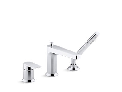Taut™ 11 gpm deck-mount bath faucet with handshower