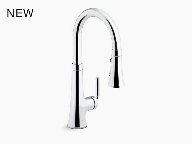 Tone Pull Down Single Handle Kitchen Sink Faucet K 23764 Kohler Kohler
