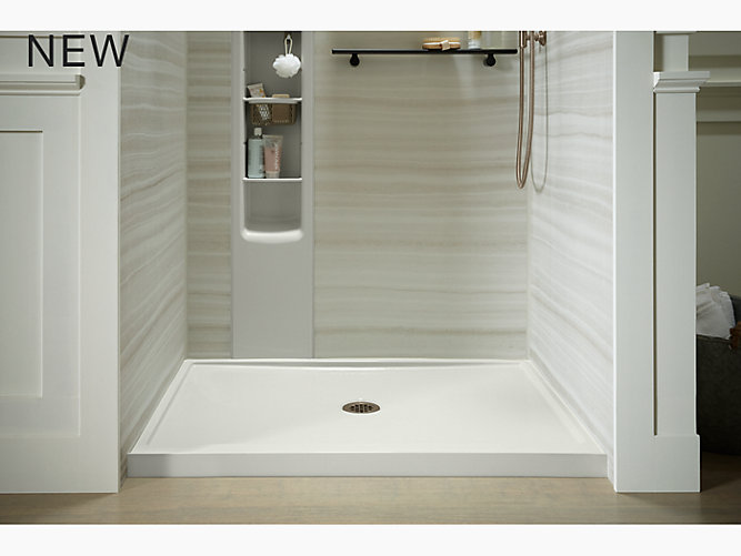 K-8648 | Rely Shower Base, 48 x 42-inch, Center Drain | KOHLER