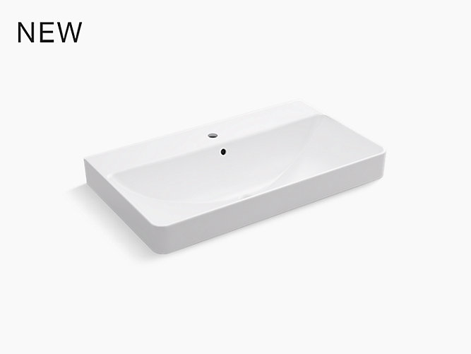 New 12 Modern Contemporary Bathroom Faucet Vessel Sink: Vox® Rectangle Trough Vessel Bathroom Sink With