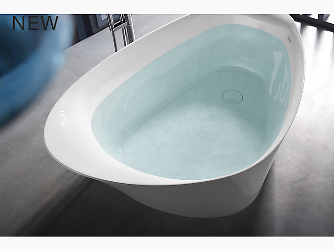 Veil 174 66 Quot X 36 Quot Freestanding Bath With Center Toe Tap