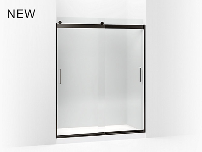 Levity Frameless Sliding Shower Door | K-706009-L | KOHLER