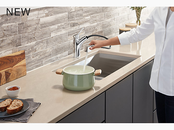 K R30124 Sd Maxton Pull Out Kitchen Faucet With Soap