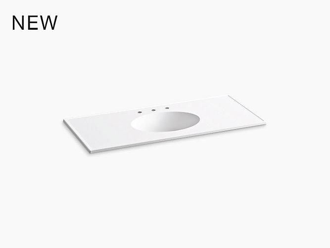 K 2891 8 Ceramic Impressions 49 Inch Oval Vanity Top