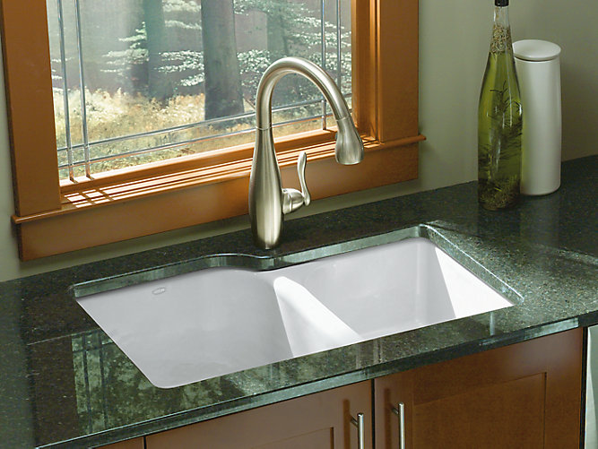 Executive Chef Under-Mount Kitchen Sink with Four Holes | K-5931-4U ...