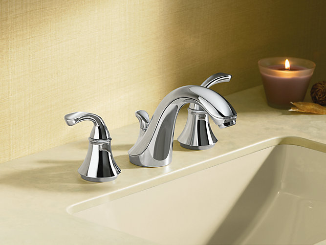 Fort Sculpted Widespread Commercial Bathroom Sink Faucet