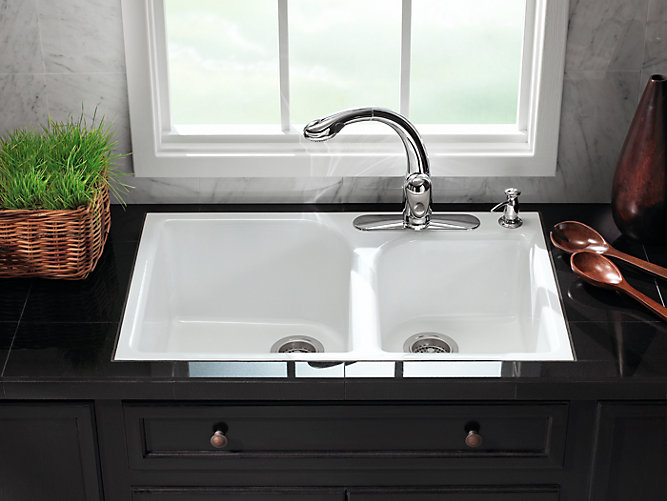 K 5931 4 Executive Chef Tile In Kitchen Sink W Four