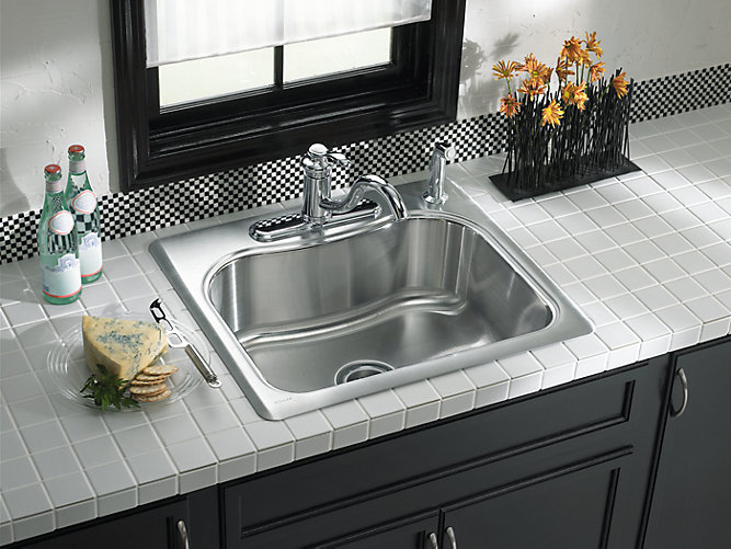 K 3362 1 Staccato 25 Inch Top Mount Sink With Single