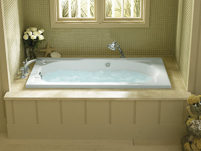 Devonshire 5-Foot Drop-In BubbleMassage Air Bath | K-1357-G | KOHLER