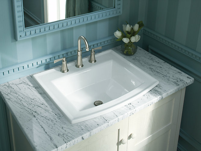 Archer Drop-In Sink with 8-Inch Centers | K-2356-8 | KOHLER