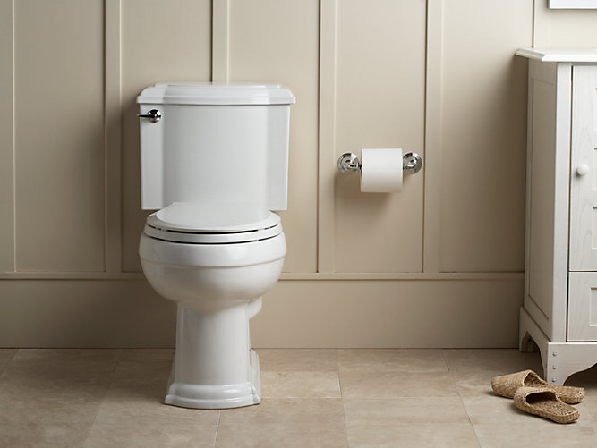 KOHLERKDevonshire TwoPiece Elongated GPF Toilet KOHLER - Kohler devonshire bathroom collection