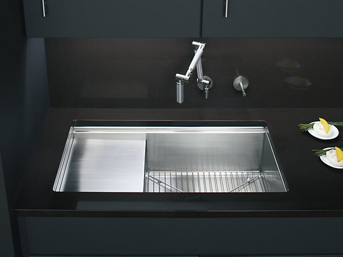 Stages 33-Inch Under-Mount Kitchen Sink | K-3760 | KOHLER