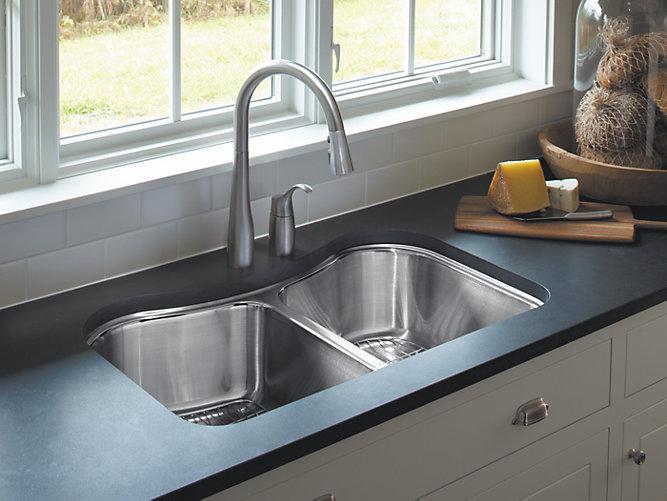 Staccato Under Mount Double Bowl Kitchen Sink K 3899 Kohler On