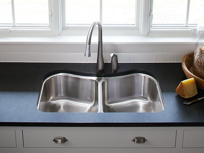 K-3899 | Staccato Under-Mount Double-Bowl Kitchen Sink | KOHLER