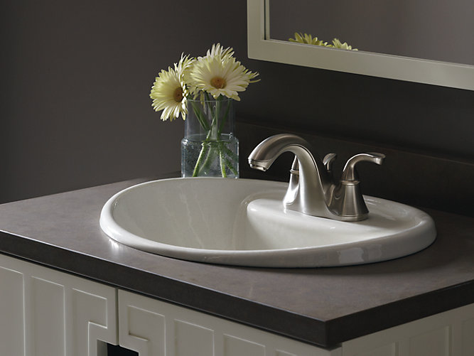 Tides Drop-In Sink with 4-Inch Centers | K-2839-4 | KOHLER