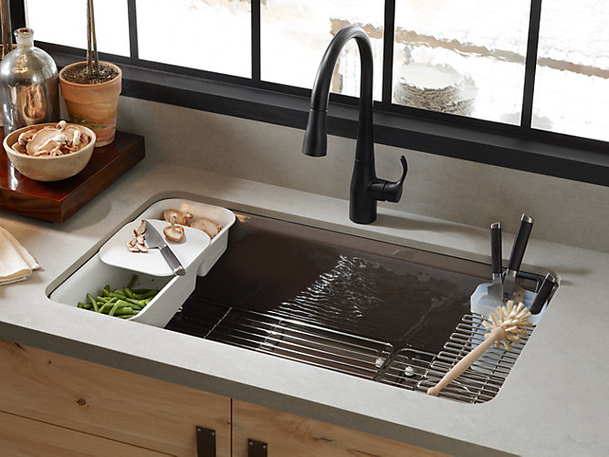 K-5871-5UA3 | Riverby Under-Mount Kitchen Sink with Accessories | KOHLER