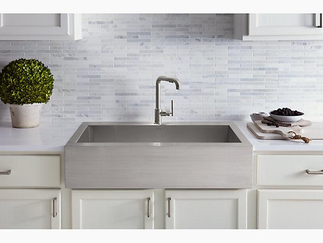 K-3942-1 | Vault Apron-Front Top-Mount Sink with Single Faucet ...