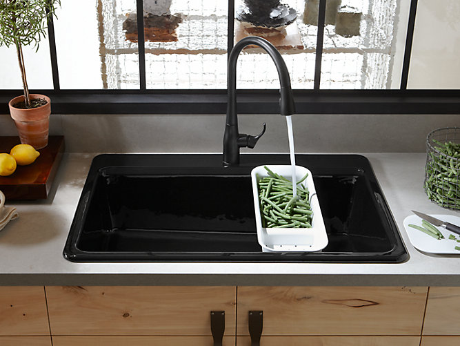 K-5871-3A2 | Riverby Top-Mount Kitchen Sink with Accessories | KOHLER