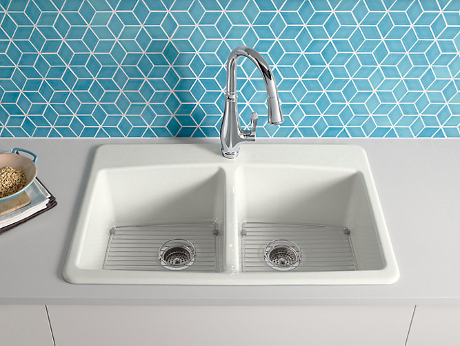 Brookfield Top-Mount Kitchen Sink with Single Faucet Hole | K-5846 ...