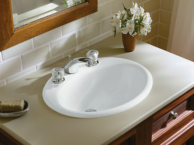 K 2905 8 Farmington Drop In Sink With 8 Inch Centers Kohler