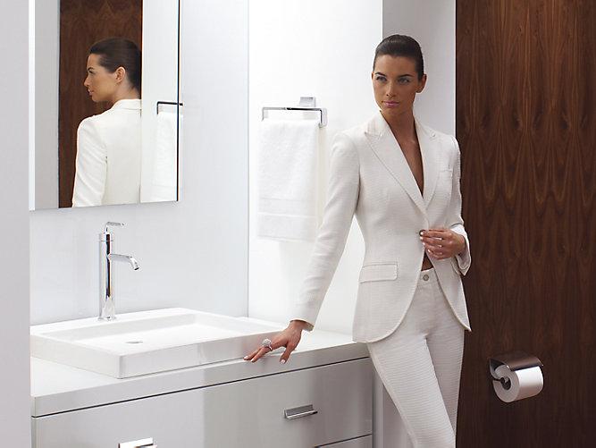 K Purist Wading Pool Sink With Single Faucet Hole KOHLER - Kohler purist bathroom sink