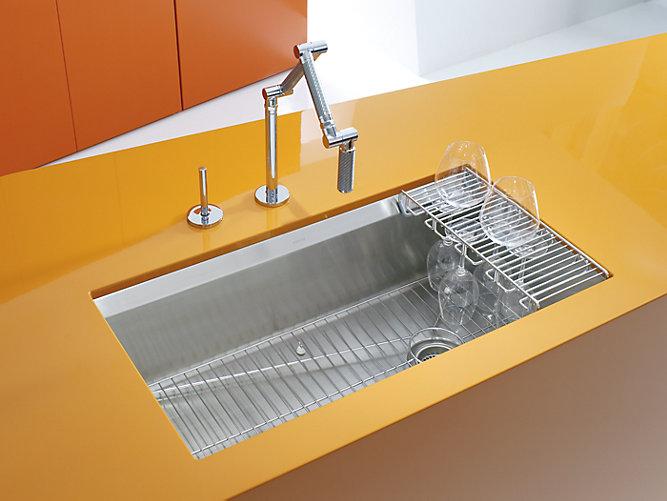 k 3673 8 degree under mount kitchen sink kohler. Black Bedroom Furniture Sets. Home Design Ideas