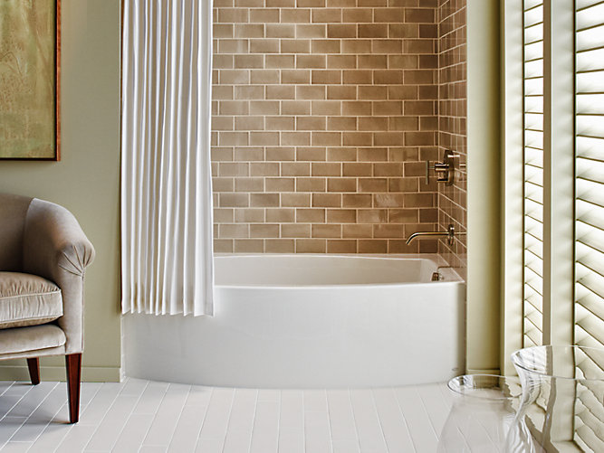 Expanse 5-Foot Three-Wall Alcove Bath with Right Drain   K-1100-RA ...