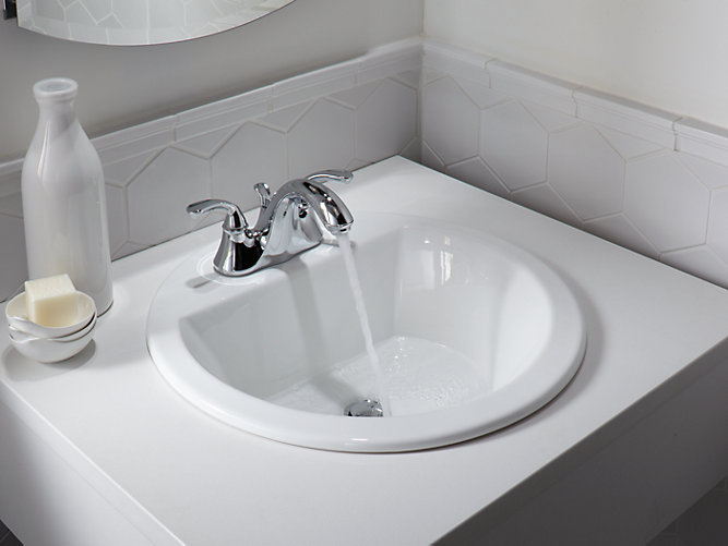 Bryant Round Drop In Sink W 4 Inch Centers And Overflow K 2714 4 Kohler