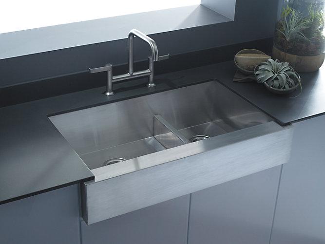 K-3945 | Vault Smart Divide Under-Mount Large/Medium Kitchen Sink ...