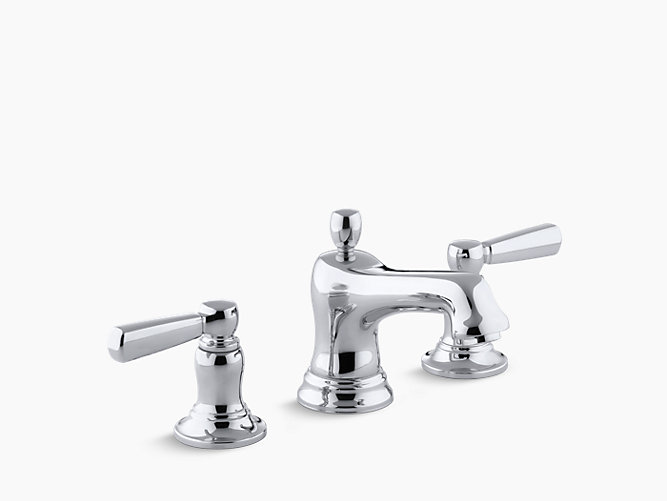 Bancroft widespread sink faucet metal lever handles k - Kohler two tone bathroom faucets ...