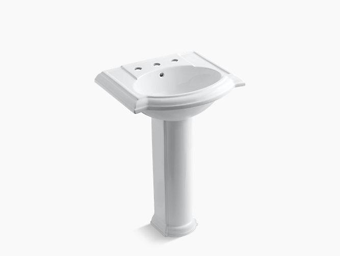 Devonshire Pedestal Sink with 8-Inch Centers | K-2286-8 | KOHLER