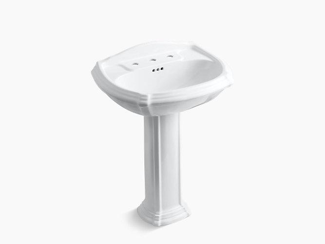 Portrait Pedestal Sink with 8-Inch Centers | K-2221-8 | KOHLER