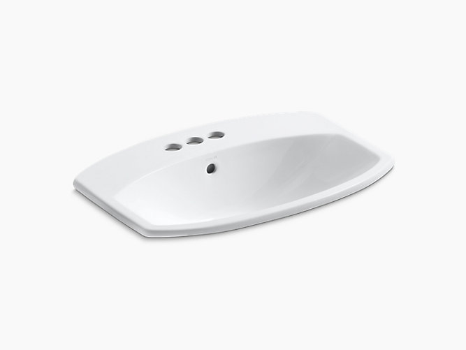 Cimarron Drop In Bathroom Sink With 4 Centerset Faucet Holes