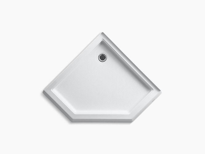 Memoirs 42 X Neo Angle Single Threshold Rear Center Drain Shower Base